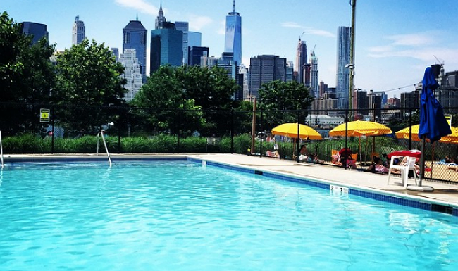 will this summer be the last time you can swim at brooklyn bridge park 39 s pop up pool. Black Bedroom Furniture Sets. Home Design Ideas