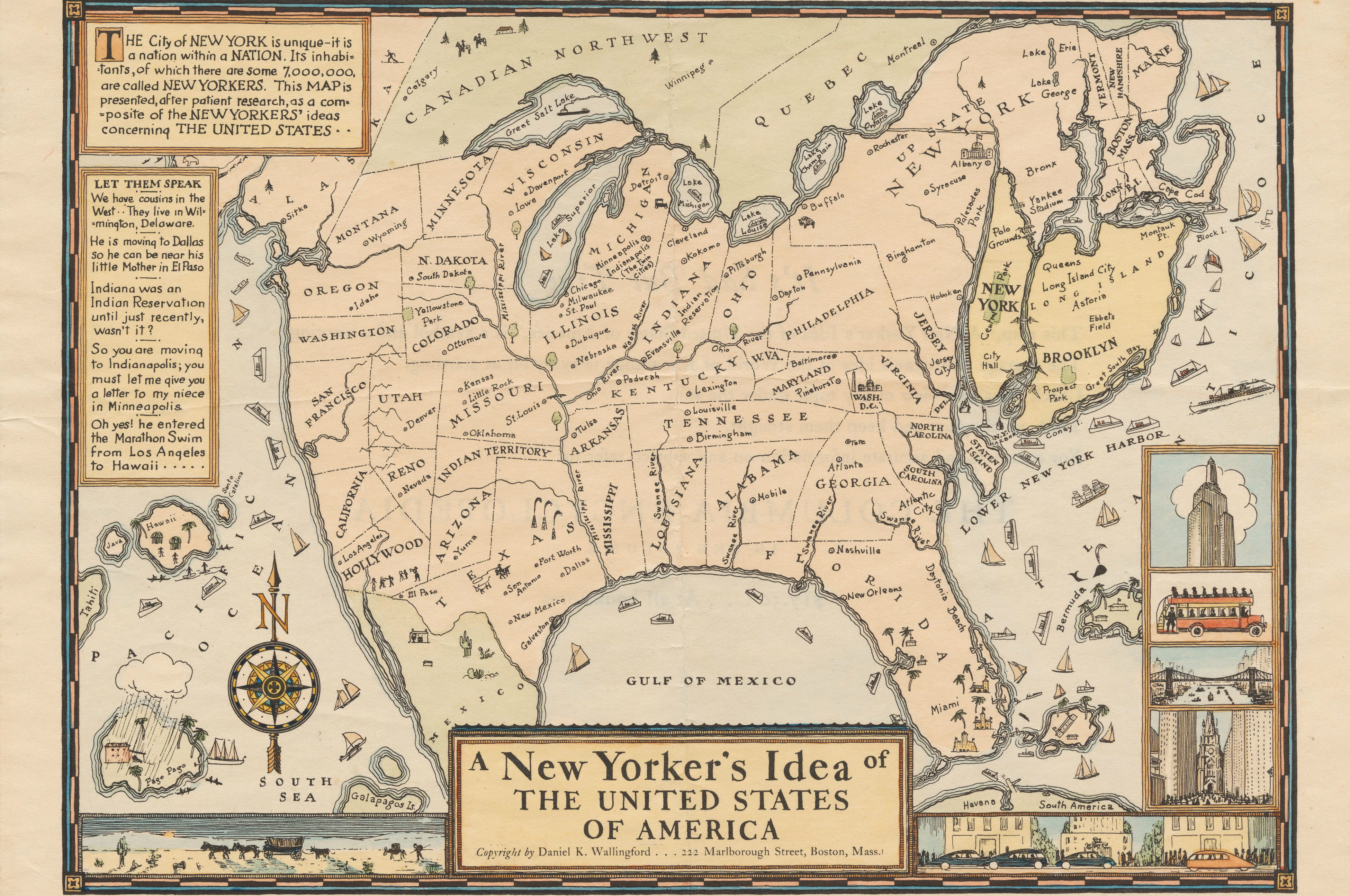 heres how one new yorker thought the usa looked like around 1936
