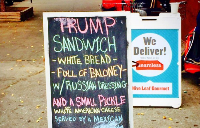 Image result for the trump sandwich