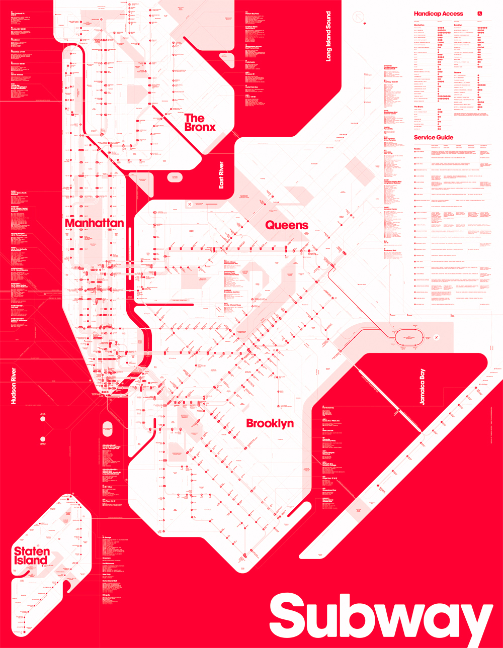 KiddingNotKidding  NYC Subway Maps That Are Actually Easier To - Nyc map to print